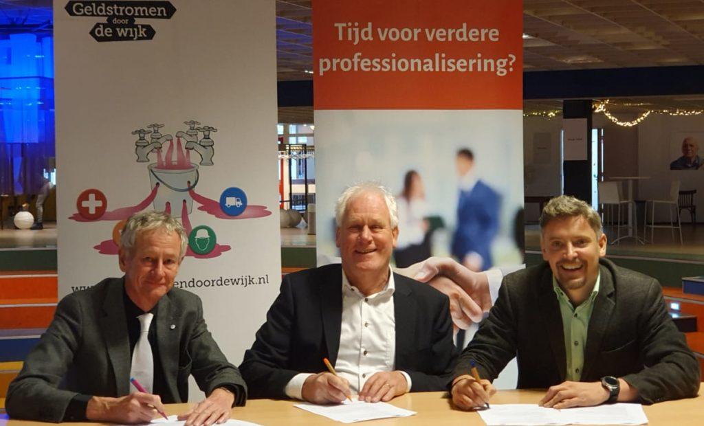 Ondertekening partnerovereenkomst Stichting CLOK en Geldstromen door de Wijk 17 januari 2020